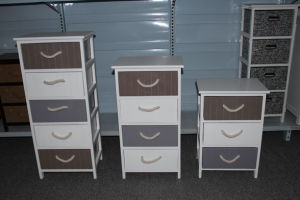 Wooden cabinet with wooden drawers