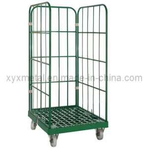 Large Steel Tube Roll Containers Cage Garden Trolleys pictures & photos