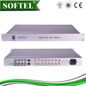 1u Chassis Type Professional Optical Video Converter (Video/Audio/Data) , Video/Audio Optical Transceiver pictures & photos