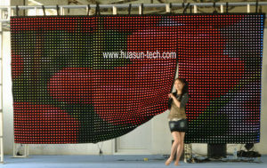 LED Video Display Drapery for DJ, Event pictures & photos