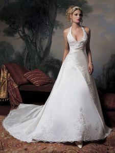 Sexy Halter Wedding Dress And Wedding Gown(De024)