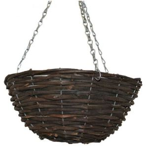 Natural Wicker Round Hanging Basket From China pictures & photos