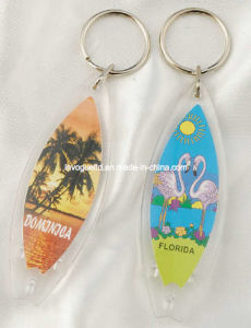 Oval Shaped Acrylic Keyring, Promotional Keychain pictures & photos