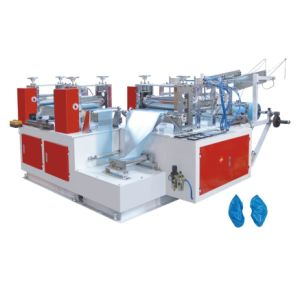PE Automatic Plastic Shoe Cover Making Machine pictures & photos