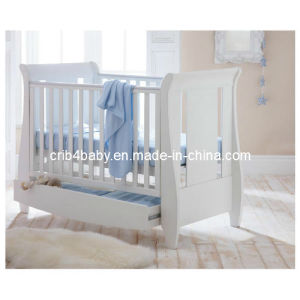 Nz Pine Sleigh Cot with Drawer (TC8044)