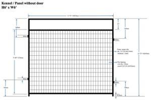 Mesh Panel Without Door - Kennel