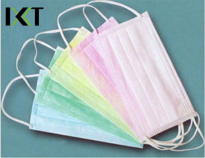Medical Non Woven Face Mask Disposable Tie Cone Earloop Types Kxt-FM41 pictures & photos