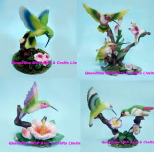 Polyresin Hummingbird with Flower, Resin Hummingbird pictures & photos