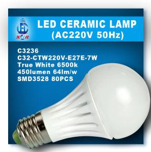 7W LED Ceramic Bulb (C32-CTW220V-E27E-7W)