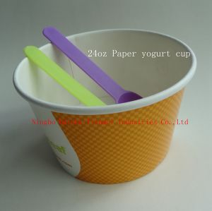 24oz Paper Yogurt Cup pictures & photos