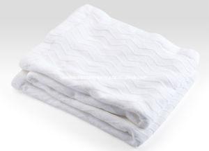 Woven Herringbone Weave Pure Cotton Blanket pictures & photos