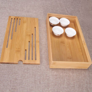 Bamboo Tea Tray Wholesale Natural Color Anti Crack and Moisture Proof