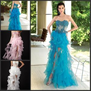 Organza Prom Cocktail Dresses Vestidos Tassels Party Dresses E13816 pictures & photos