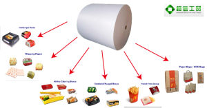 Doubel Sides PE Coated Paper for Cups, Airline Catering Boxes, Sandwich/Nugget Boxes, Paper Bags/ Sos Bags pictures & photos