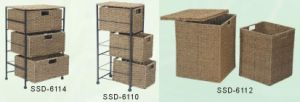 Home Storage Baskets Made From Seagrass in Natural Color
