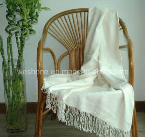 Bamboo Throw, Bamboo Blanket, Bamboo Fiber Throw Bt-F070330-Ivory pictures & photos
