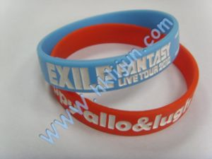Debossed Rubber Wristband