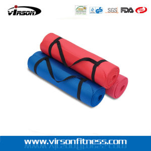 Durable Yoga Exercise Pilates Mat with Strap for Travel
