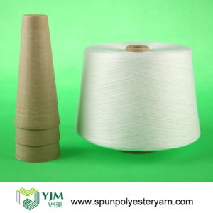 Spun Polyester Yarn in Optical White (40s/2) pictures & photos