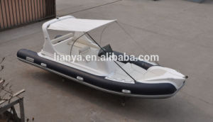Liya 6.2m Inflatable Fiberglass Rib Fishing Boat with Outboard Motors pictures & photos