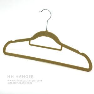 Customized Flocked Hanger, Hot Sale Velvet Hanger, Pants Hanger pictures & photos