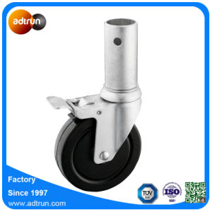Medium Duty 5 Inch Rubber Wheel Hollow Round Stem Casters pictures & photos
