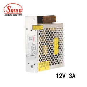 Smun 35W 12V 3A AC/DC Single Output Switching Power Supply pictures & photos