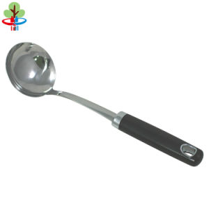 PP/Soft Grip Handle and Silicone Stainless Steel Tube Soup Ladle pictures & photos