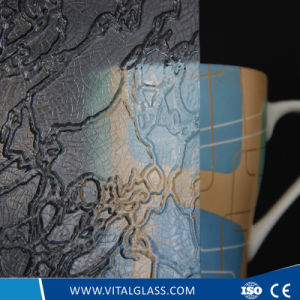 3-6mm Clear Map Patterned Glass with CE&ISO9001 pictures & photos