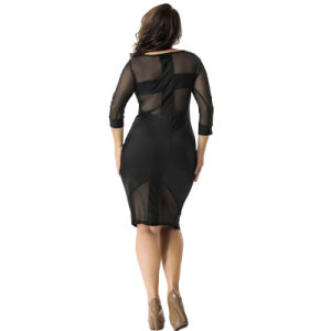 China in Stock on Sale Cheapest Low MOQ Black Women Ladies Dress pictures & photos