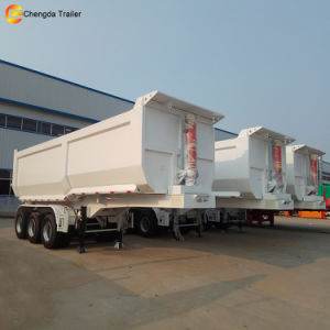 3 Axle 40 Ton Hydraulic End Tipper Dump Trailer pictures & photos