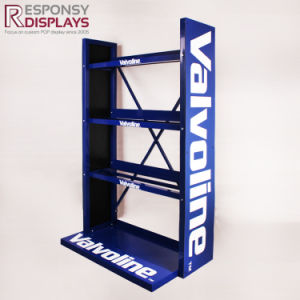 Heavy Duty Floor Metal Lubricating Oil Display Rack for Petrol Station pictures & photos