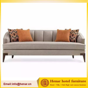 Living Room Modern 3 Seat Grey Elm Couch Sofa for Hotel Bedroom pictures & photos