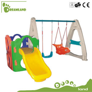 New and Best Quality Plastic Children′s Indoor Slide Swing and Slide pictures & photos