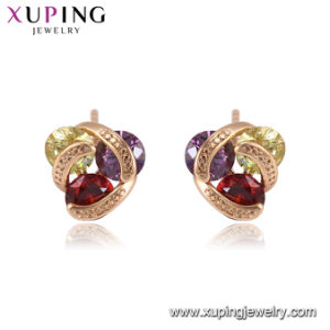 95006 Xuping Multiple Stones Colored Small Earring, Popular Stud Earring Daily Wearing Classic. pictures & photos