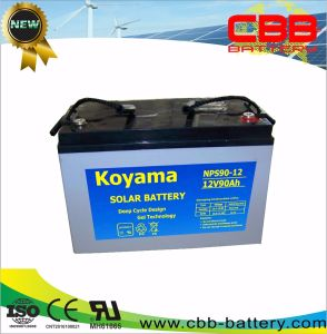 12V 90ah Solar Gel Power Storage Battery Nps90-12 pictures & photos