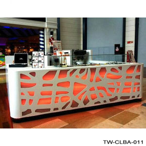Tw Corian Acrylic Pure White Office Reception Desk pictures & photos