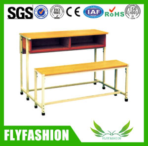 Cheap Price Primary School Desk and Bench for 3 Persons Sf-39d pictures & photos