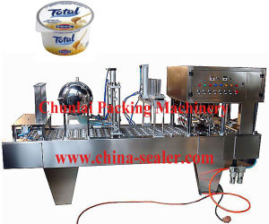 2015 High Output Automatic Yogurt Cup Filling Sealing Machine pictures & photos