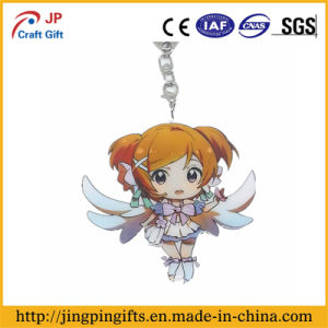 Custom Print Cute Animation Metal Key Chain with Ring (JK-002) pictures & photos