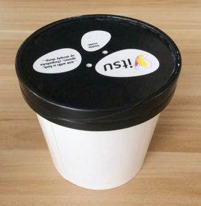 2015 Hot Sale Custom Printed Ice Cream Cup with Flat Paper Lid pictures & photos