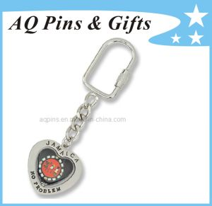 Metal Key Chain with Soft Enamel + Printed Logo pictures & photos