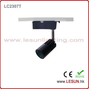 Small Size 7W 3 Wire COB LED Track Light with Black Color LC2307t pictures & photos