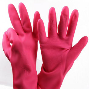 Manufacturer for Flocklined Rubber Household Latex Gloves pictures & photos