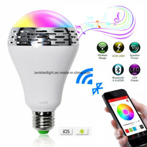 Smartphone Controlled Wireless Bluetooth Speaker Smart LED Light Bulb