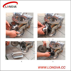 Sanitary Stainless Steel Rotary Airlock Valve pictures & photos