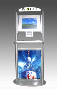 Height Adjustable Touch Screen Self Service Check Kiosk pictures & photos