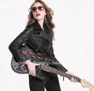 Most Popular Latest Fashion Designs Custom PU Leather Jackets for Women