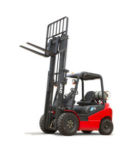Full Free 3 Stage Mast LPG Forklift 3000kg pictures & photos