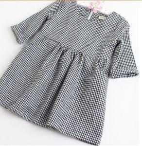 Spot Goods Kids Chequer Dress for Girls